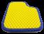 Автоковрики EVA в салон Renault Logan жёлтые Краснодар