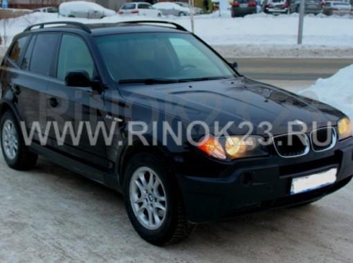 BMW X3 внедорожник 2004 г бензин 2.5 л АКПП Новосибирск