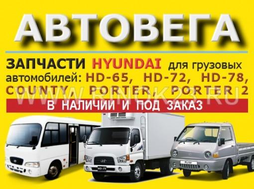 Запчасти Hyundai HD Porter County в Краснодаре магазин АВТОВЕГА