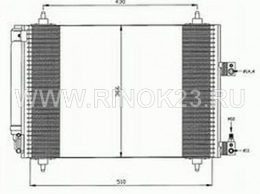 Радиатор кондиционера PEUGEOT 307 2001 г Краснодар