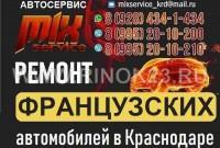 Ремонт Французских авто в Краснодаре автосервис Mix service