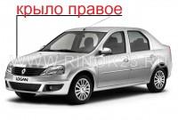 Крыло переднее правое Renault Logan в цвет кузова в Краснодаре