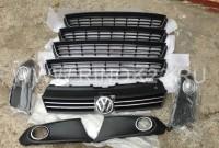 Решетка радиатора с эмблемой Volkswagen Polo верхняя и нижняя  Краснодар