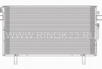Радиатор кондиционера NISSAN TERRANO / PATHFINDER 96-03 Краснодар