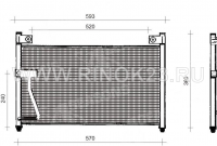 Радиатор кондиционера MAZDA CAPELLA 97-02 Краснодар