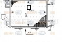 Радиатор охлаждения двигателя для Mercedes (MB) M103 с МКПП/АКПП коробкой в Краснодаре
