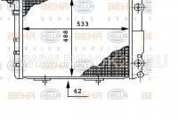 Радиатор охлаждения двигателя Mercedes W124 M605, M606 в Краснодаре