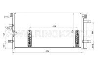 Радиатор кондиционера AUDI A4 07- / / A4 ALLROAD 09- / / A5 07- / / A6 11 - / / A7 10- / / Q5 08- Краснодар