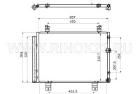 Радиатор кондиционера LEXUS IS250 / 350 06-07 Краснодар