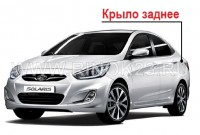 Заднее левое крыло б.у на Hyundai Solaris