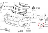Крепление переднего бампера NISSAN TEANA 14- RH,LH
