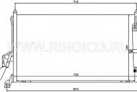 Радиатор кондиционера INFINITI FX35 / FX45 03-08 Краснодар