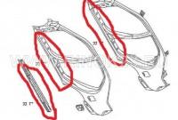 Усилитель порога металлический правый Geely MK, MK Cross