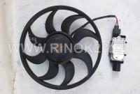 Вентилятор б/у с модулем на Ford Focus 3