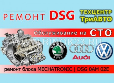 Ремонт DSG 0AM 02E Skoda Volkswagen Audi Краснодар СТО Три АВТО